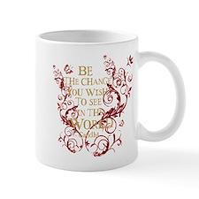Gandhi Vine - Be the change - Burgundy Mug