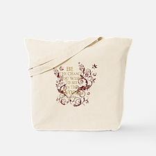 Gandhi Vine - Be the change - Burgundy Tote Bag