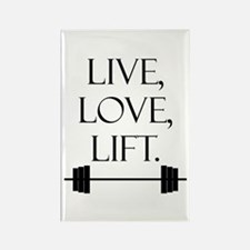 Live, Love, Lift Rectangle Magnet