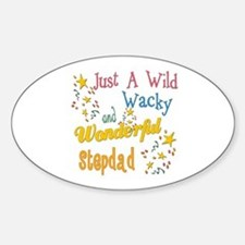 Wild Wacky Stepdad Oval Decal