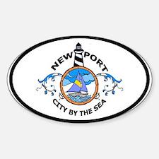 Newport, RI Oval Decal