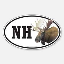 NH New Hampshire Moose bumper sticker decal(Oval)