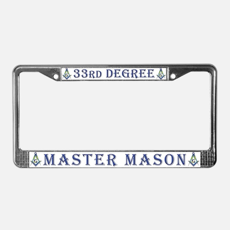 33rd Degree Master Masons License Plate Frame