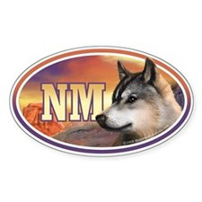 NM New Mexico Wolf car bumper Oval Decal