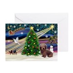 XmasSunrise/Dachshund LH Greeting Cards (Pk of 10)