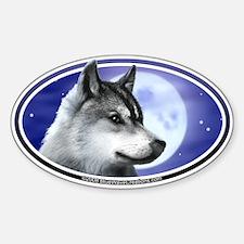 Wolf Moon I car bumper sticker decal (Oval)