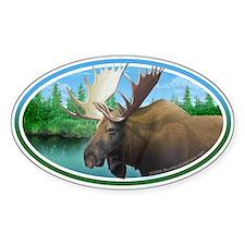 Marsh Moose car bumper sticker decal (Oval)