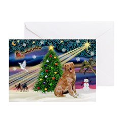 Xmas Magic/Golden (2B) Greeting Cards (Pk of 20)