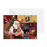 Santa's Yorkie (#9) Greeting Card