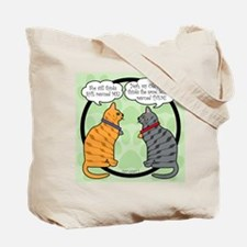 CAT CHAT 2 and 1 Tote Bag