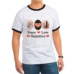Peace Love Statistics Statistician Ringer T