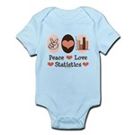 Peace Love Statistics Statistician Infant Bodysuit
