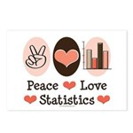 Peace Love Statistics Postcards (Package of 8)
