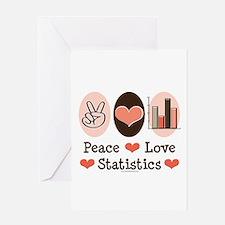 Peace Love Statistics Statistician Greeting Card