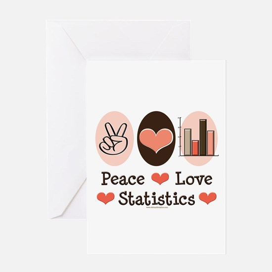 Peace Love Statistics Statistician Greeting Card