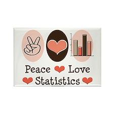 Peace Love Statistics Rectangle Magnet (10 pack)