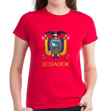 Ecuador Coat of Arms Women's Dark T-Shirt