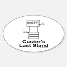 CUSTER'S LAST STAND Oval Decal