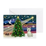 Xmas Magic & Westie Greeting Cards (Pk of 10)
