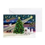 Xmas Magic & Westie Greeting Cards (Pk of 20)