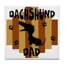 Dachshund Dad Tile Coaster