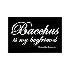Bacchanalia/black Rectangle Magnet