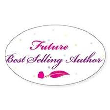Future Best Selling Author Oval Decal
