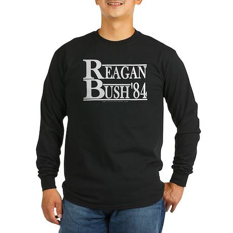 Reagan Bush 1984 Long Sleeve Dark T-Shirt
