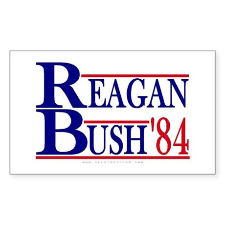 Reagan Bush 1984 Rectangle Sticker