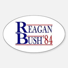 Reagan Bush 1984 Oval Decal