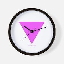 Pink Triangle Wall Clock