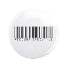 """Account Executive Barcode 3.5"""" Button"""
