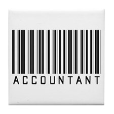 Accountant Barcode Tile Coaster