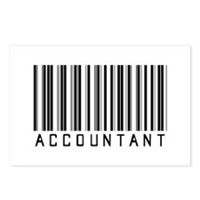 Accountant Barcode Postcards (Package of 8)