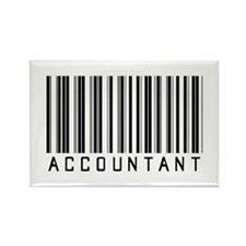 Accountant Barcode Rectangle Magnet