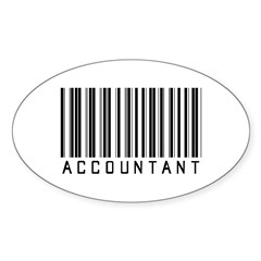 Accountant Barcode Oval Sticker (10 pk)