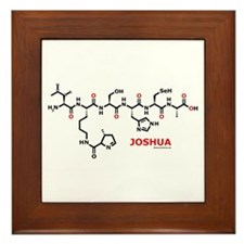 Joshua name molecule Framed Tile