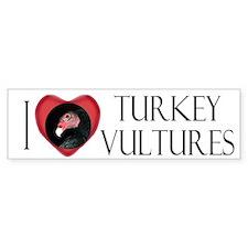 I Love Turkey Vultures Bumper Car Sticker