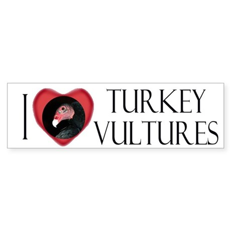 I Love Turkey Vultures Bumper Sticker