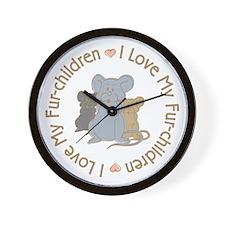 I Love my Rat Fur-Children Wall Clock