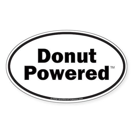 Donut Powered Car Bumper Oval Sticker