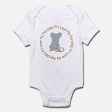 I Love my Rat Fur-children Infant Bodysuit