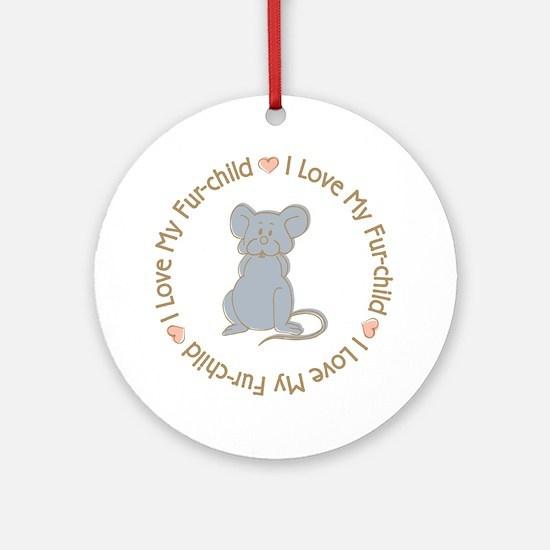 I Love my Rat Fur-children Ornament (Round)