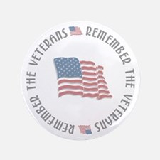 "Remember the Veterans 3.5"" Button (100 pack)"