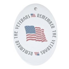 Remember the Veterans Oval Ornament