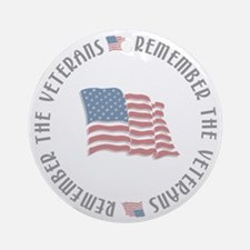 Remember the Veterans Ornament (Round)
