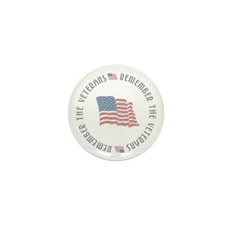 Remember the Veterans Mini Button (10 pack)