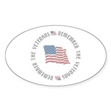 Remember the Veterans Oval Decal