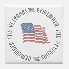 Remember the Veterans Tile Coaster