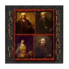 Faces of Rembrandt Tile Coaster